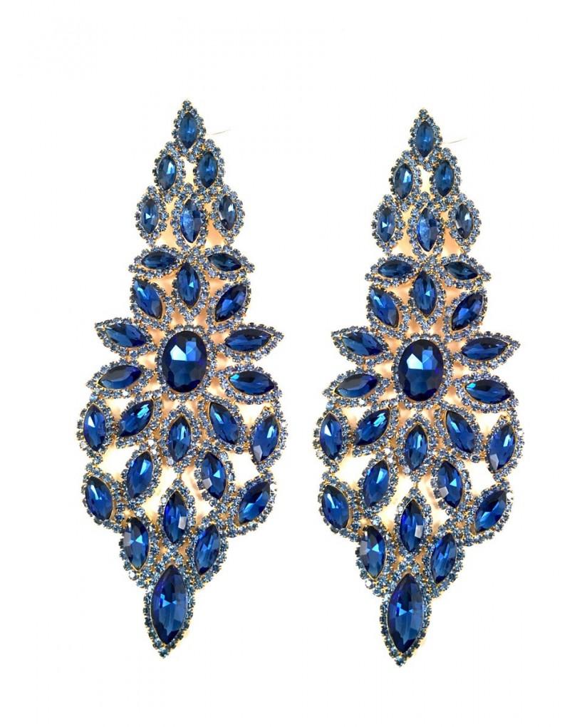Pendientes largos de fiesta azules pendientes y bisuteria for El jardin del deseo pendientes