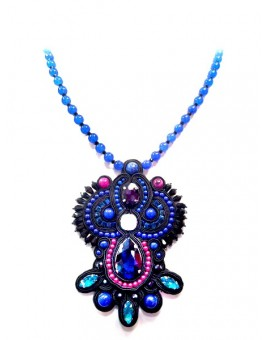MEDALLON SOUTACHE ARCO AZULON