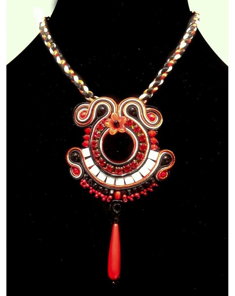 864d6d70cb33 Colgante de Bisuteria Soutache, 20-00 Embroidery | Colgantes Flamenca y  Pendientes Flamenca
