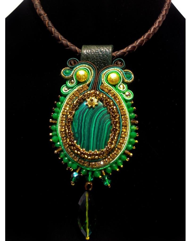 805e8aaa48c1 Colgante de Bisuteria Soutache, 25-00 Embroidery | Colgantes Flamenca y  Pendientes Flamenca