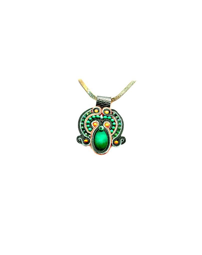 6ae1f64c7482 Colgante de Bisuteria Soutache,verde | Colgantes Flamenca y Pendientes  Flamenca