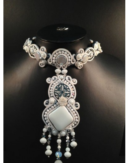 GARGANTILLA EXCLUSIVA SOUTACHE BLANCO GRANDE