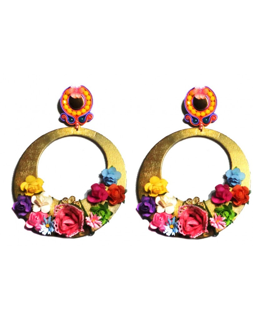 Pendientes flamenca fabricados para ti pendientes flamenca y pendientes - El jardin del deseo pendientes ...