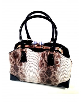 BOLSO FASHION DIBUJO SERPIENTE