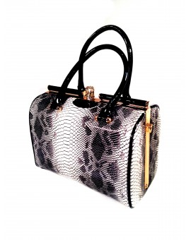 BOLSO REDONDO FASHION DIBUJO SERPIENTE