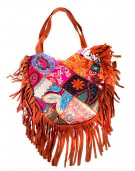 BOLSO FLECOS CON BORDADOS INDIA