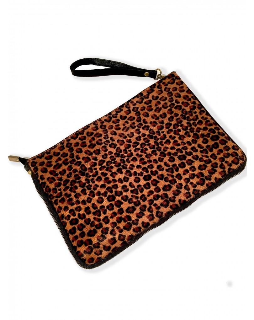 e030518f514 Bolsos de Mano de Piel de Potro- Efecto Leopardo