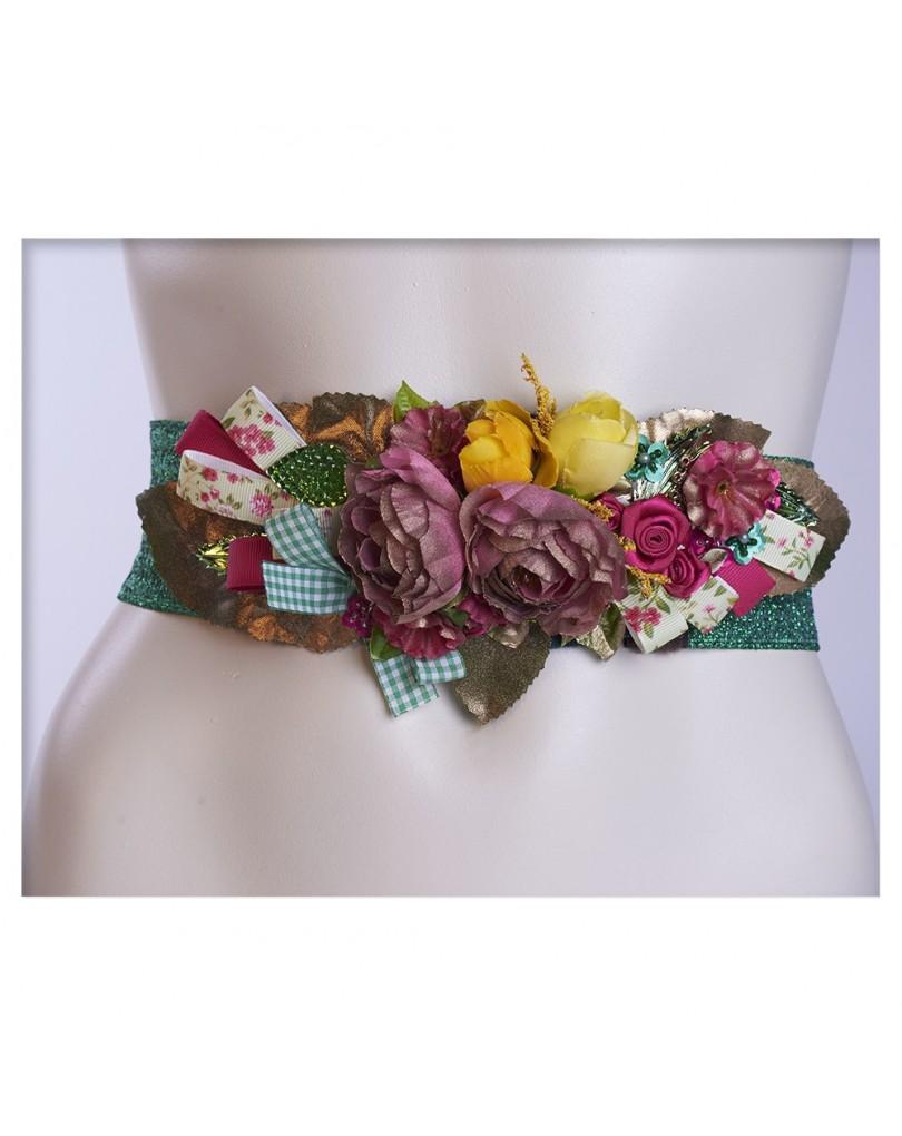mejores zapatillas de deporte b5022 e5b56 Cinturones de Vestir Elasticos, con Flores de Tela | Cinturones y  Complementos