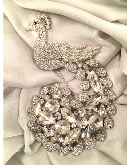 BROCHES GRANDES, PAVO REAL