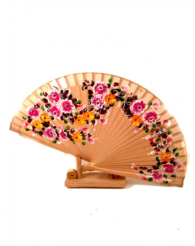 Abanicos pintados a mano en madera abanicos y complementos - Abanicos pintados a mano originales ...