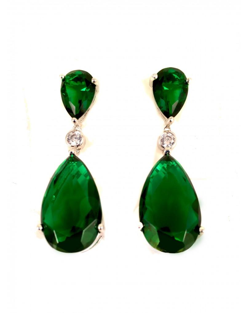212947abe0e1 pendientes verde esmeralda - Los pendientes con forma de animales