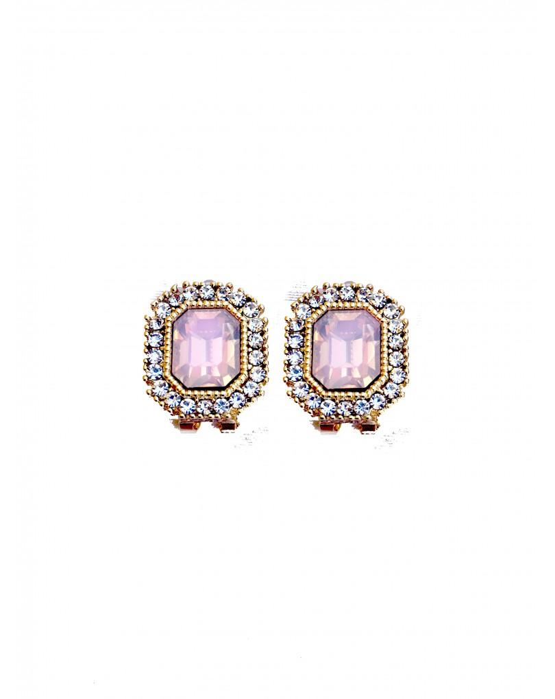 97c0f1b9a79d Elegantes Pendientes de Señora Antialergicos con Cristal de Color ...