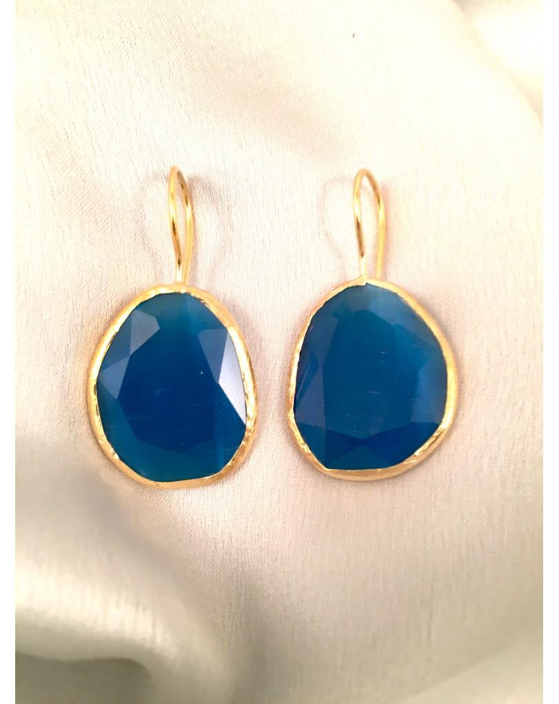 Pendientes azules elgantes de piedras naturales pendientes y bisuteria - El jardin del deseo pendientes ...