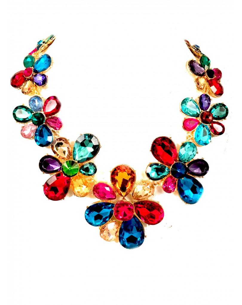 15023666be5b Gargantillas de Fiesta con Cristal de Colores