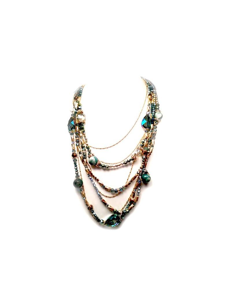 a93ee54f039e Collar Cascada Cadenitas Bolita Tubo