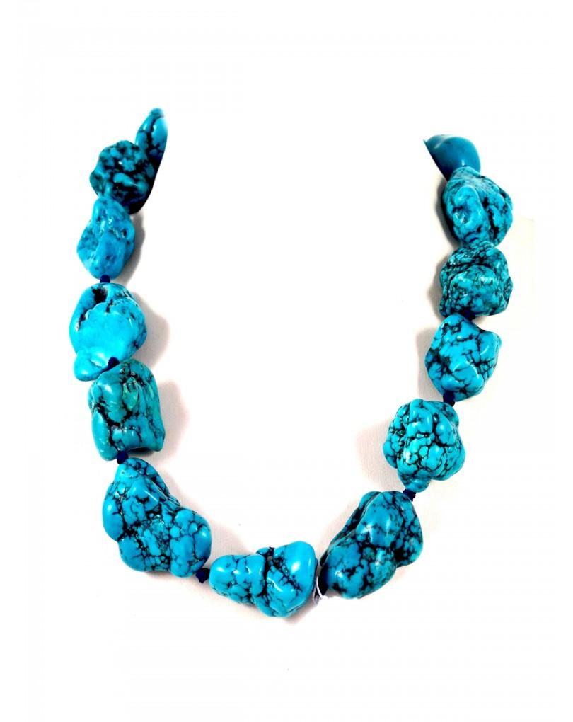 670fd6250d56 Collar Turquesa en Bruto Largo 50cm