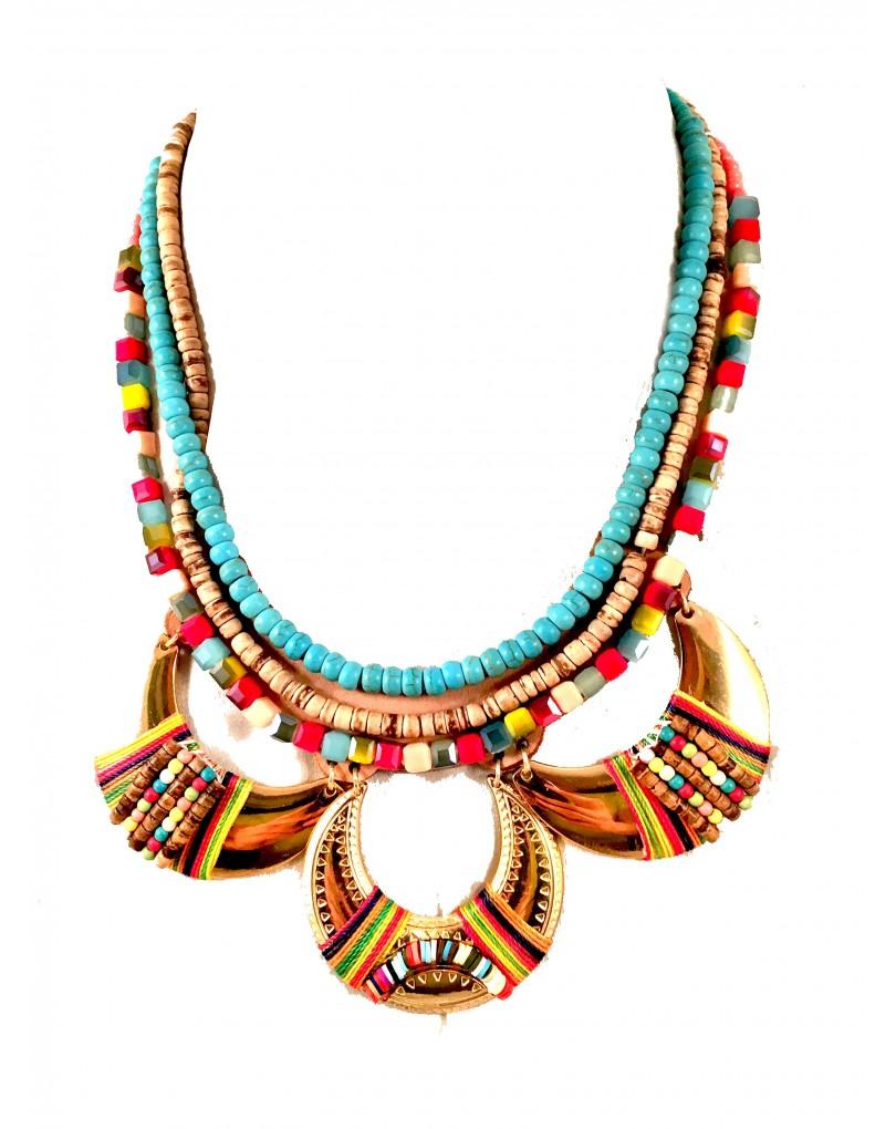 Collares etnicos con turquesa y piedras semipreciosas - Piedras para collares ...