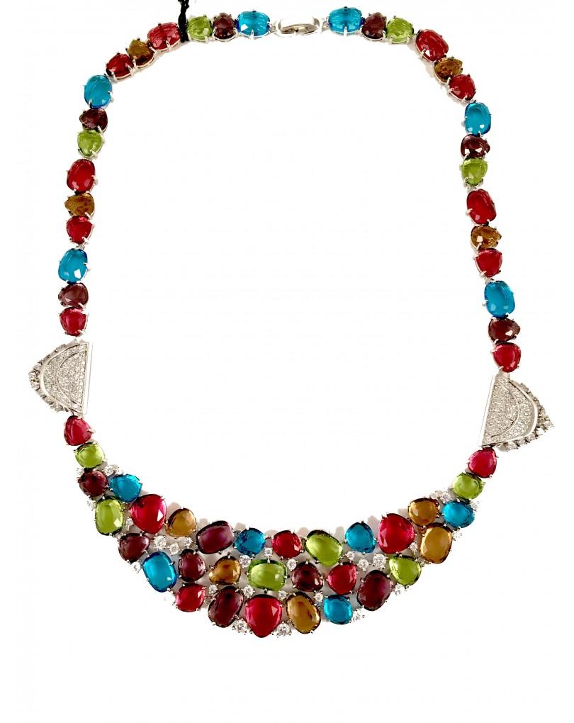 f8c72111fa59 Bisuteria Fina- Gargantillas de Cristal de Colores