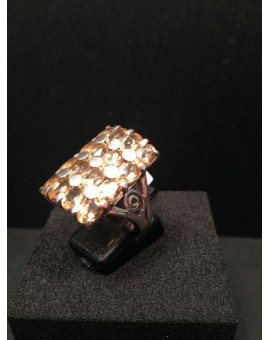 ANILLO PLATA RECTANGULAR CITRINO