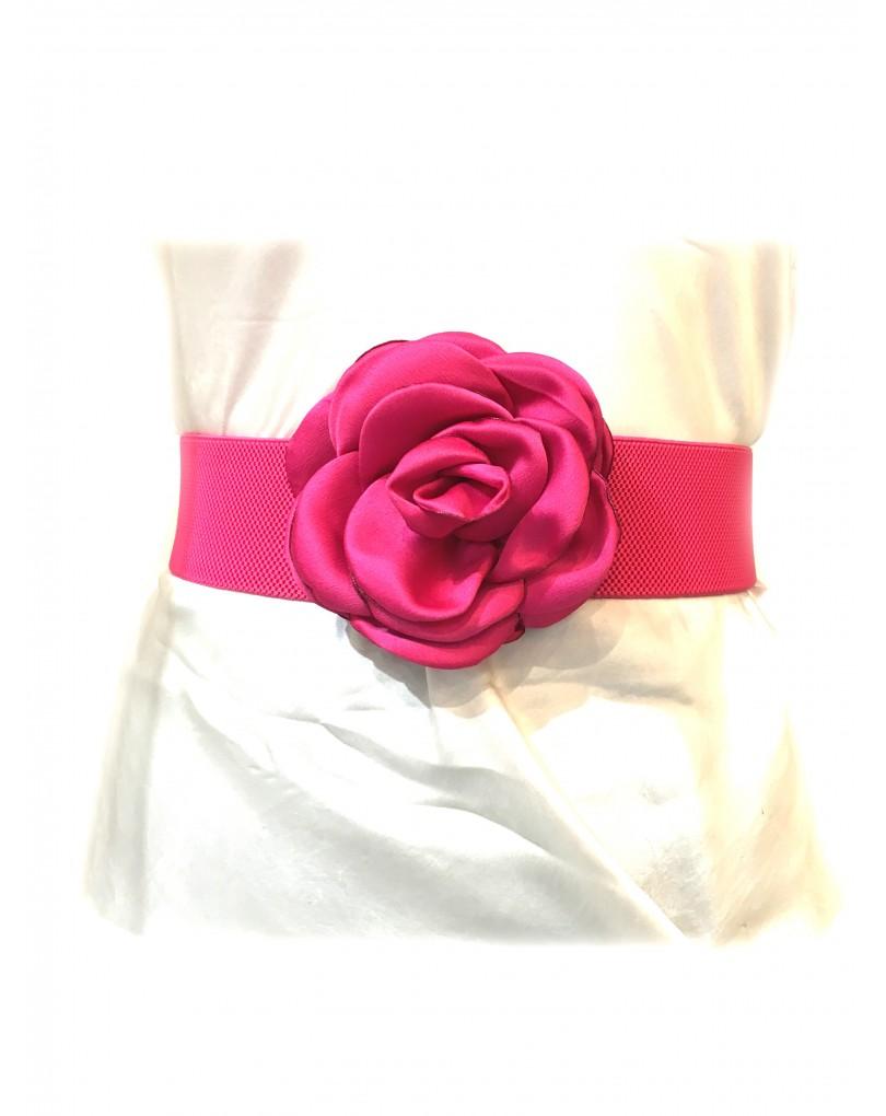 Cinturones de Vestir con Flores Fucsia  ab5df24b1991