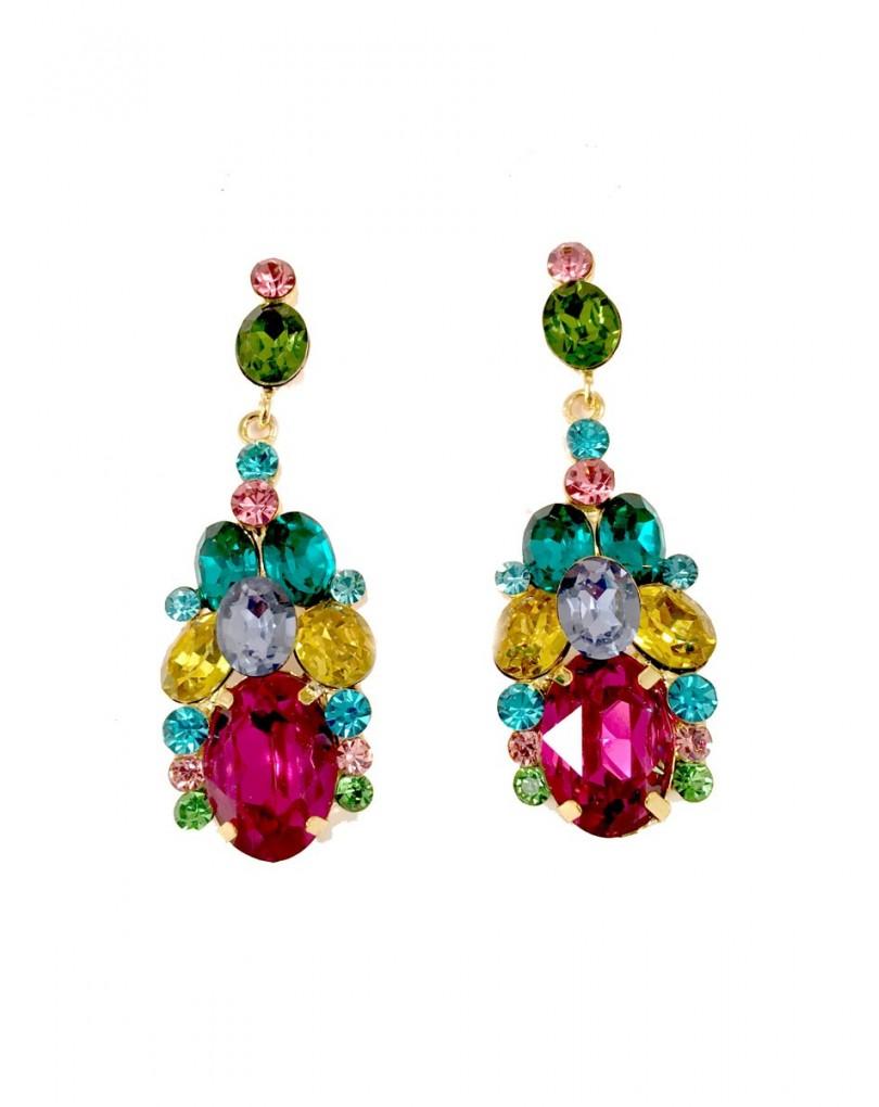 Pendientes bisuteria multicolor en cristal pendientes y for El jardin del deseo pendientes