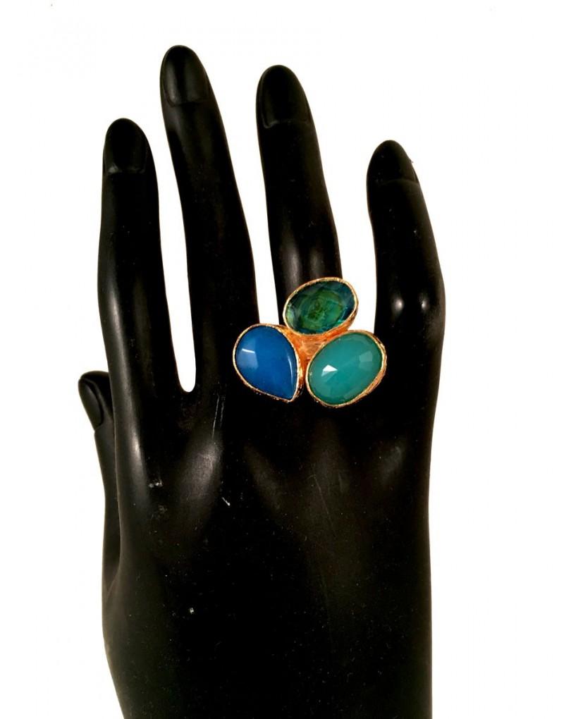 9564b17bdbbe Anillos de Piedras Semi Preciosas y Montura Chapada Oro