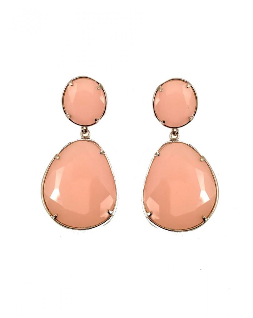 8348b6a63af9 Elegantes Pendientes de Fiesta en Cristal Color Rosa Palo