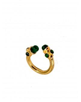 Anillo verde en piedra jade