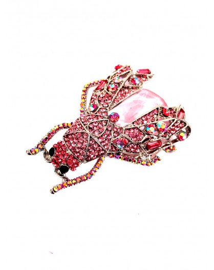 BROCHES ORIGINALES ROSA INSECTO