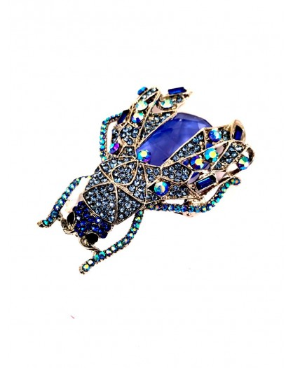 BROCHES ORIGINALES INSECTO AZUL