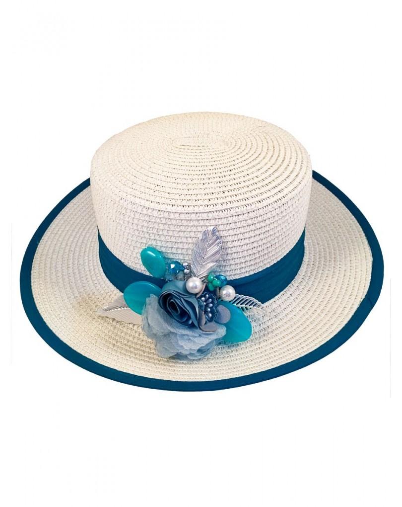 Sombrero Rafia Ala Ancha  13eeb14c836