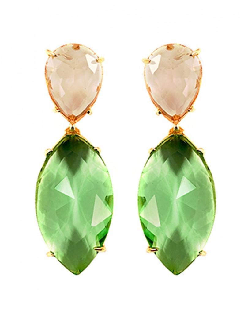 35a7e04237d5 Pendiente de Bisuteria Verde Manzana y Dorado