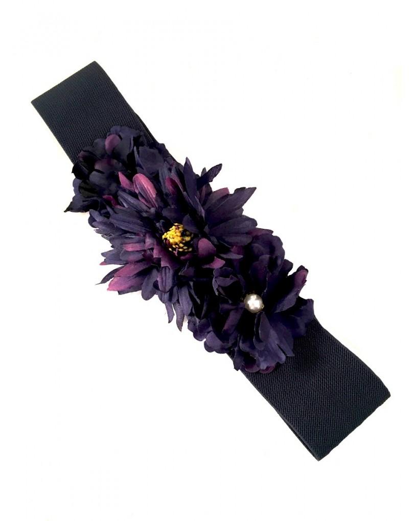 4187c9c65 Cinturones Originales en Azul Marino de Flores | Cinturones y ...