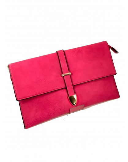 CARTERA DE VESTIR COLOR FUCSIA