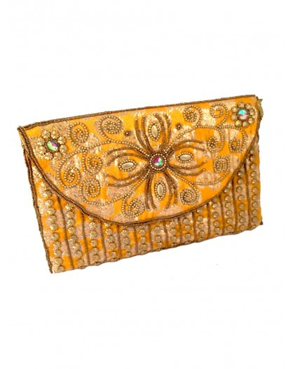 BOLSOS DE FIESTA ORIGINALES INDIA AMARILLO