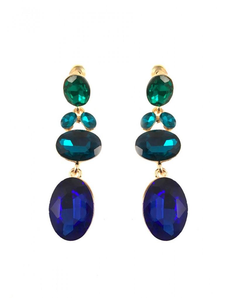 1ef84a6e0955 Pendientes Largos Bisuteria Azules y Verdes