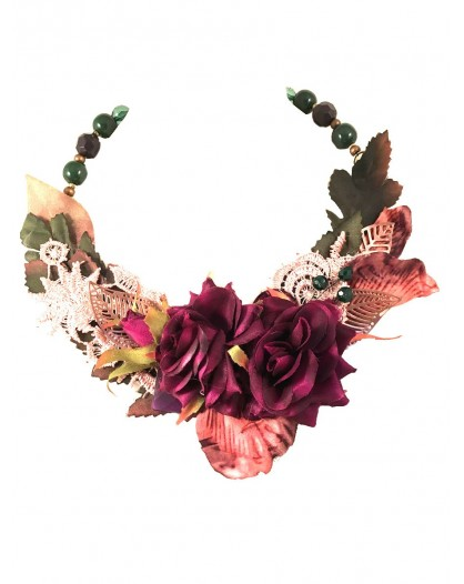 COLLARES ORIGINALES DECORADOS CON BONITAS FLORES