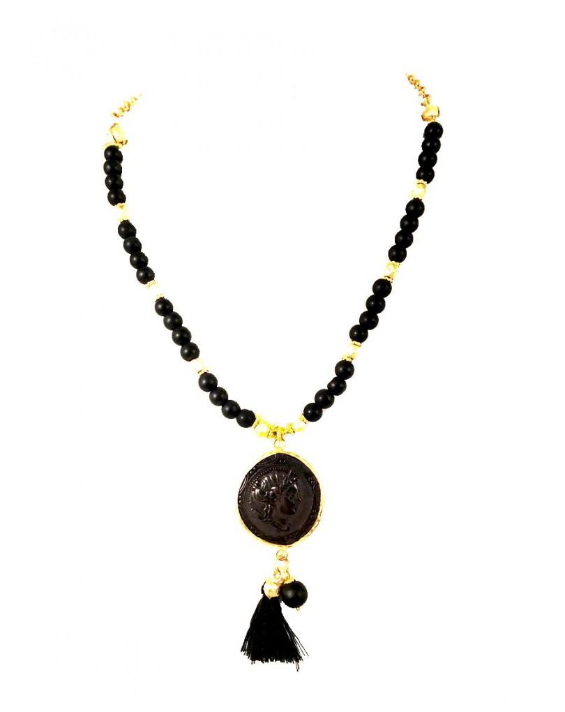 2020109b0e20 Collares Bisuteria Dorados con Monedas Romanas