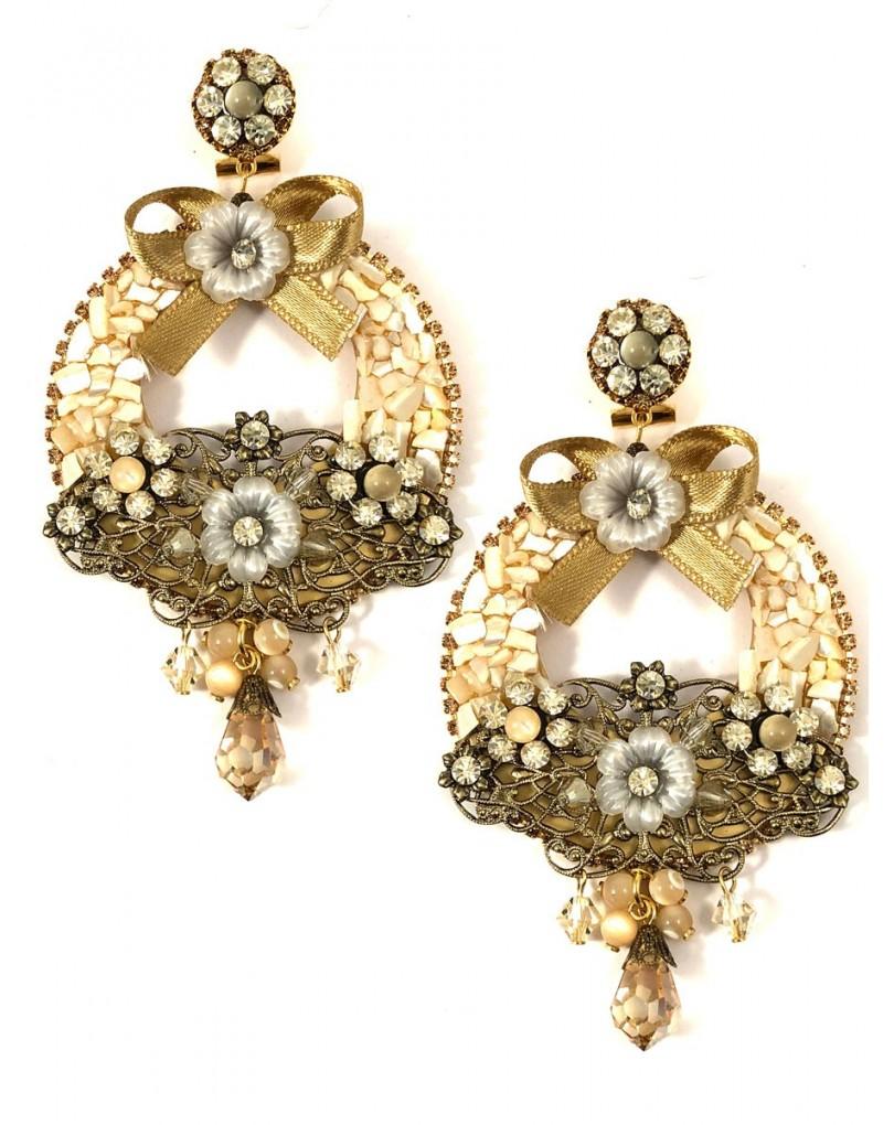 29e1bf91bb17 Pendientes de Flamenca de Diseño Tonos Dorados