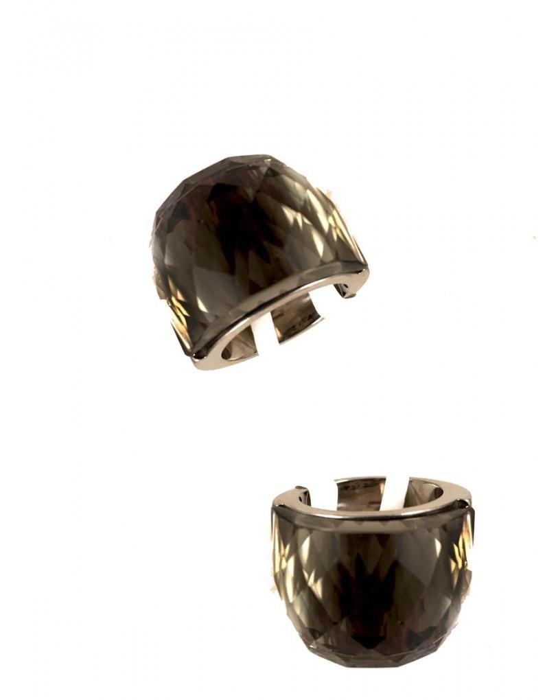 09e065809adf Anillos de Acero con Cristal de Color Piedra