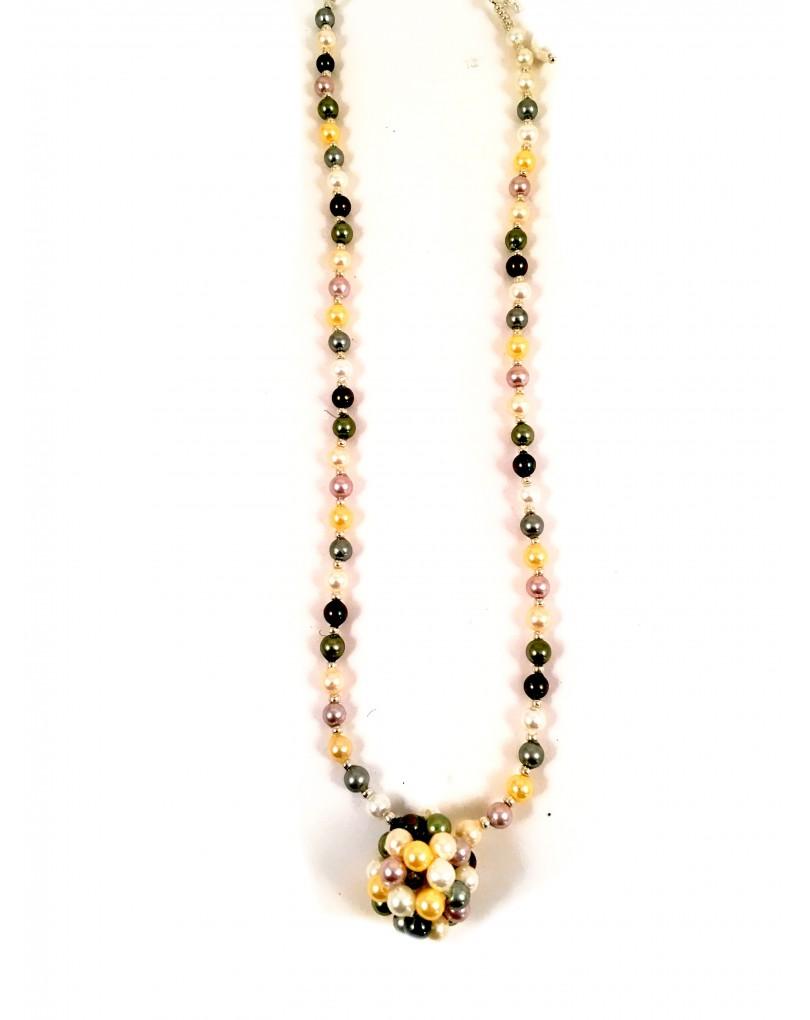 ee620b5b3136 Collares de Perlas Multicolor