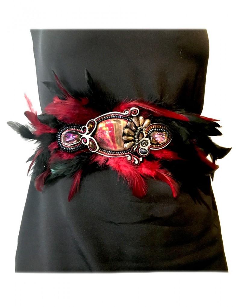 Cinturones de Plumas para Bodas  90840f04e27e
