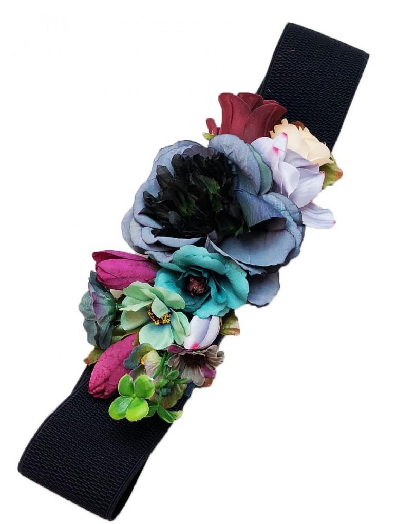 Cinturones de Flores en Azul Marino e7decf0ba268