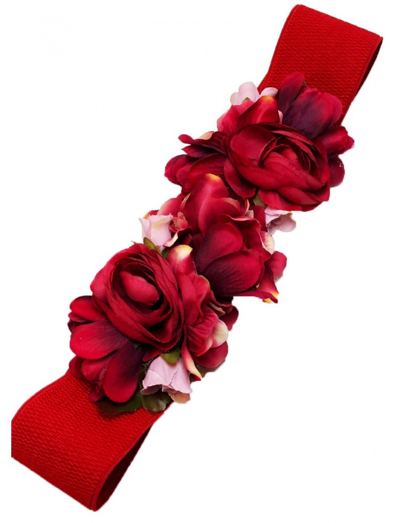 Cinturones de Flores Rojos d88a95bb040a