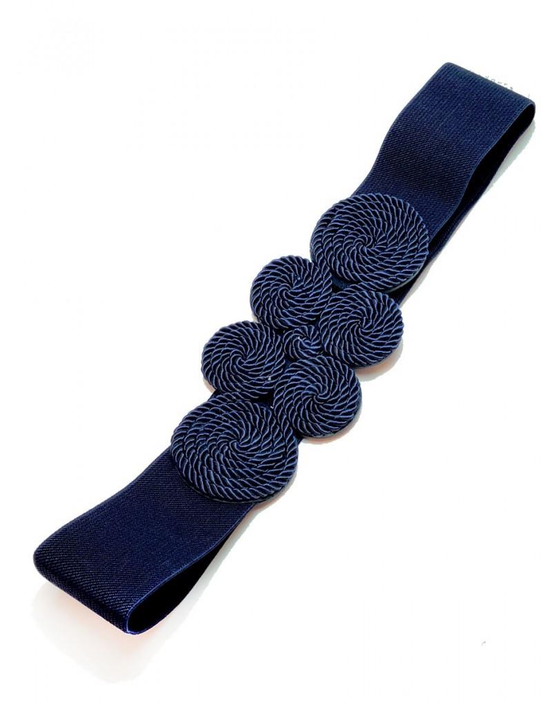 Cinturones para Mujer Ideales para Bodas en Azul Marino  55357c9b38d0