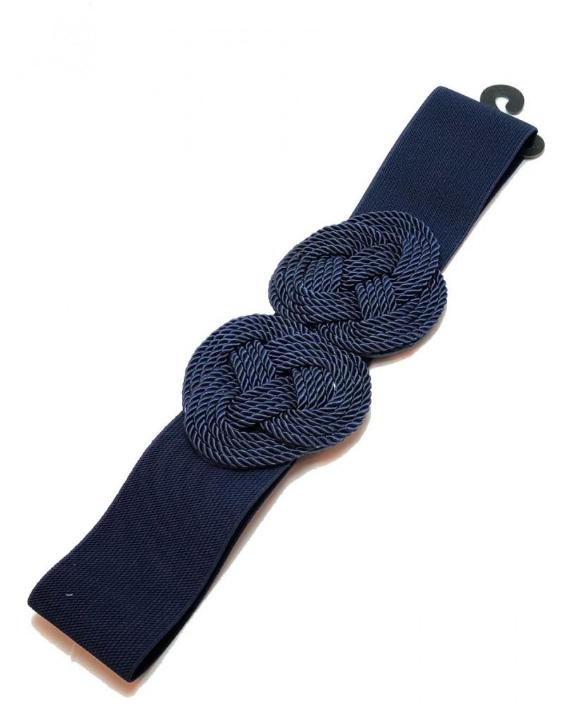 Cinturones para Mujer en Azul Marino con Nudo Marinero  122eeb530369