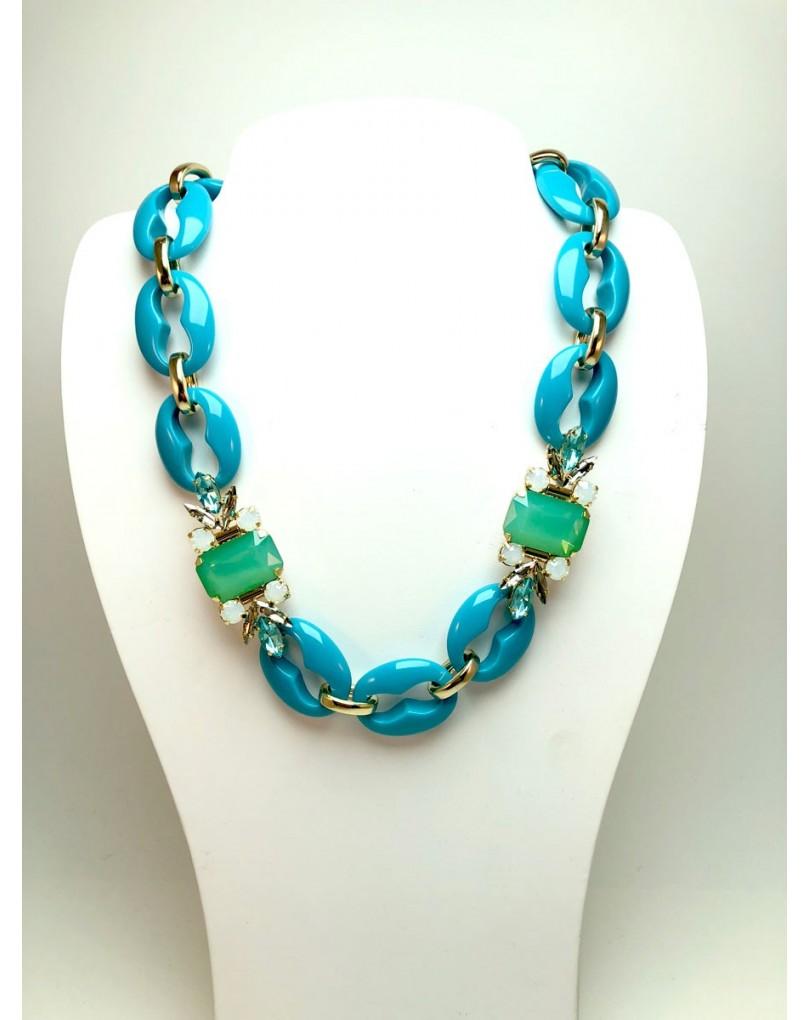 c3bdc0dd0308 Collares Grandes Azul Turquesa