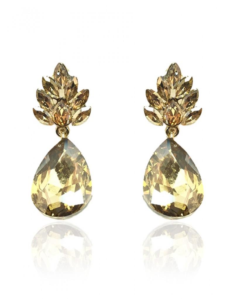 Pendientes de bisuteria dorados para bodas especial - Complementos de bisuteria ...