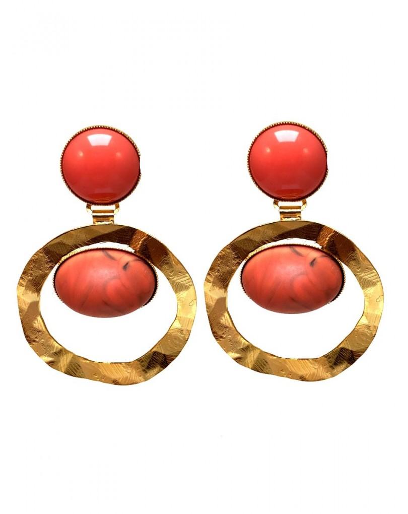 6a0f41c20853 Pendientes Mujer Originales y con Diseño en Coral y Baño de Oro ...