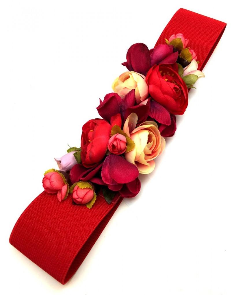 Cinturones de Flores con Fajin Rojo 1555abeda6c9
